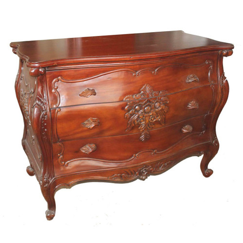 FRENCH FLEUR CHEST OF DRAWER | Natural