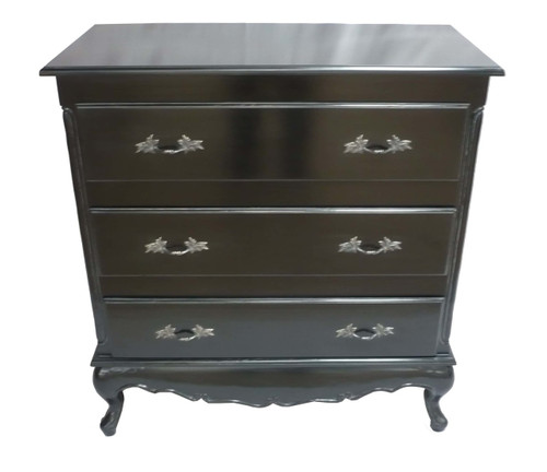 CAROLINE 3 DRAWER CHEST | Black