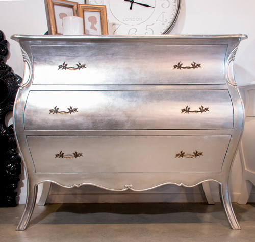 VINCENT 3 DRAWER COMMODE | Silver