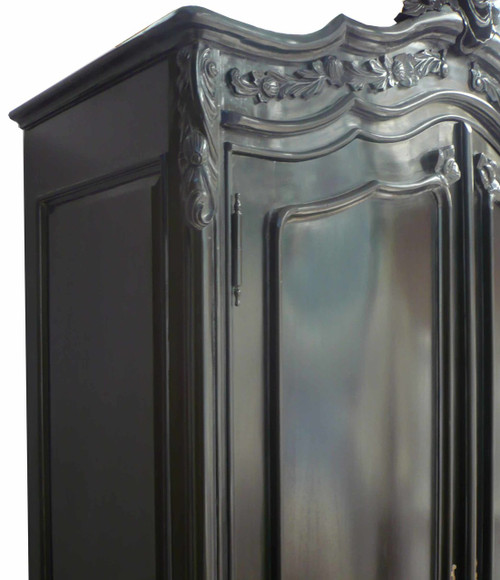 ROMANCE 2 DOOR ARMOIRE | Black