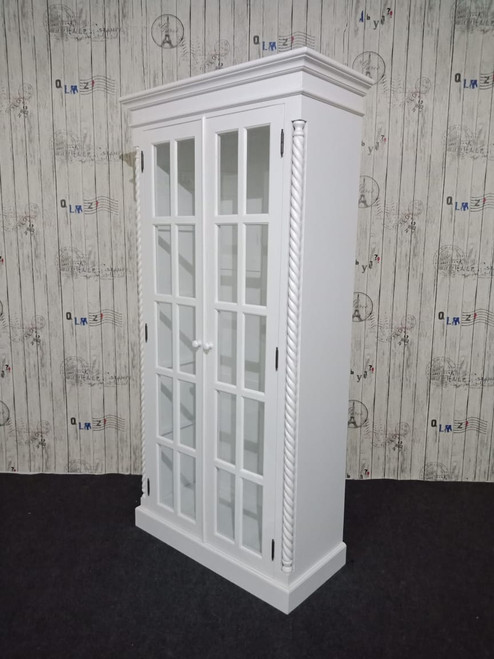 FRENCH COTTAGE GLASS CABINET