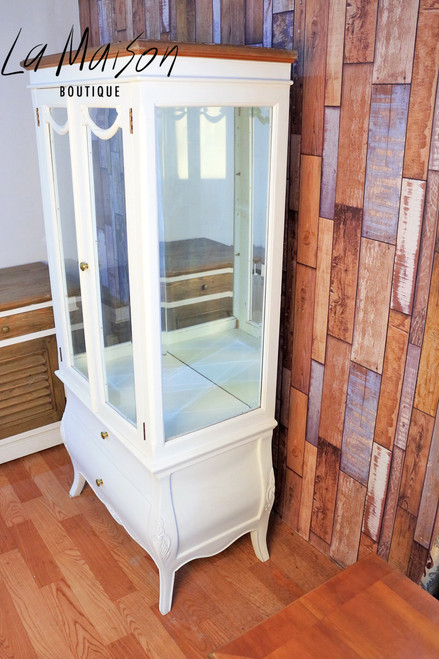 PRE ORDER: Glass display cabinet - natural top