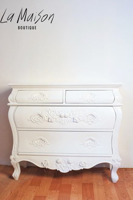 ROSE CARVED CHEST OF DRAWERS