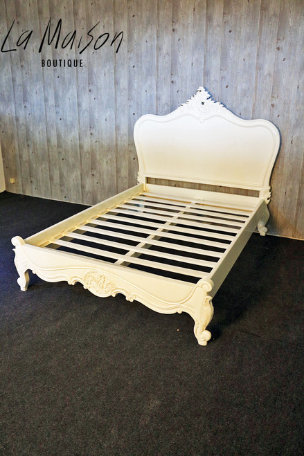 PROVENCAL CLASSIC BED LOW END | Antique White