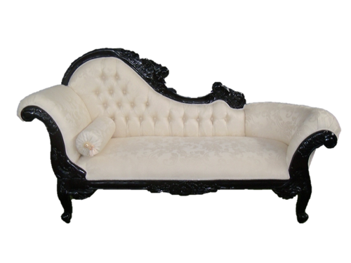 PRE ORDER: Flower Carved Chaise Longue - Bandele