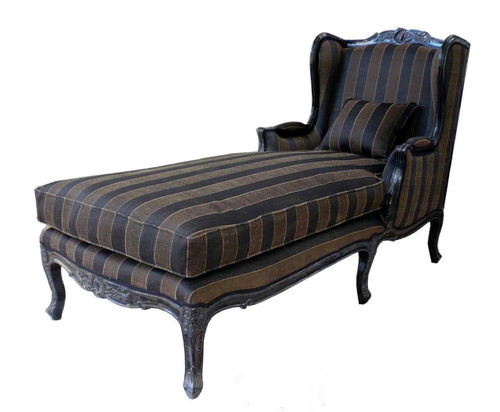 PRE ORDER: Wingback Chaise Longue - black
