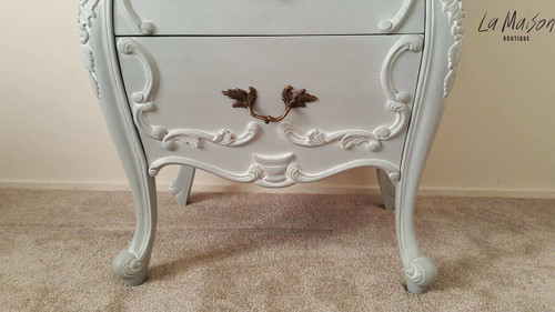 EUGENE 3 DRAWER CHEST | Antique Grey/ White