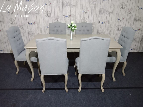 TOULOUSE DINING TABLE & SET OF 6 CHAIRS