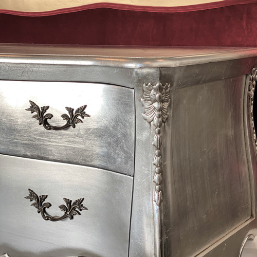FRENCH SHABBY 2 DRAWER CHEST | Silver