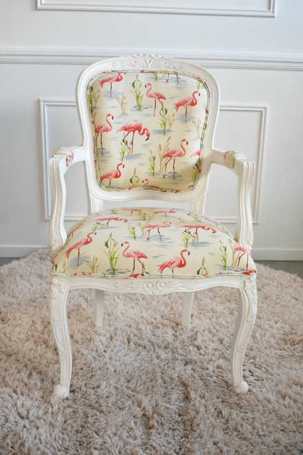 FLORAL CARVED ARMCHAIR | Flamingo Bay