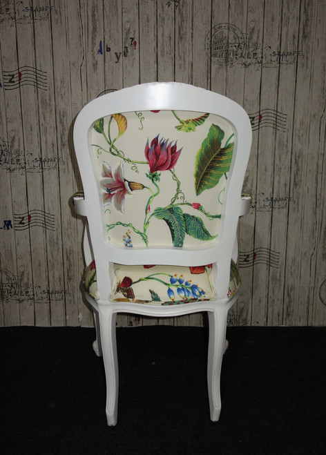 IN STOCK NOW: Floral carved armchair - Floral Imperialis Acrylic