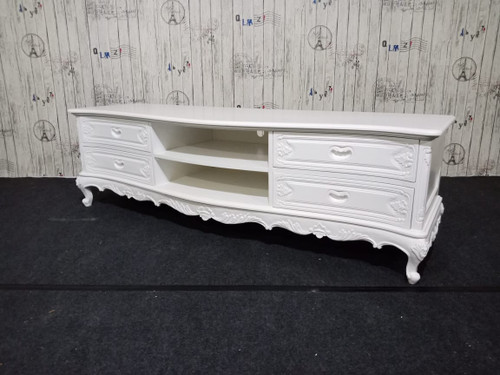 FRENCH CHATEAU TV CABINET | White