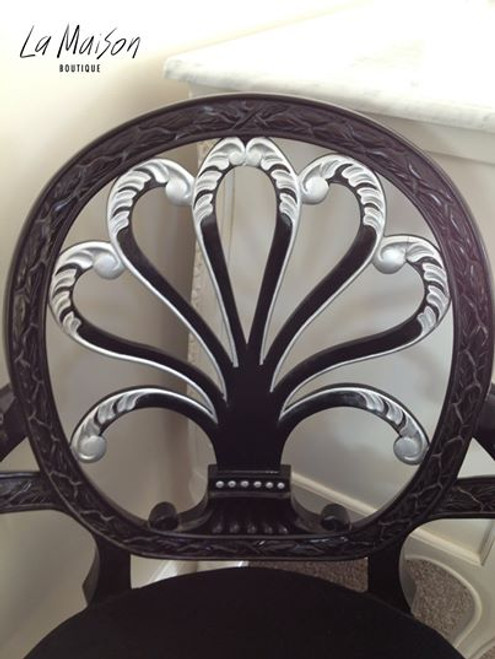 FEDERAL OVAL CHAIR | Black & Silver