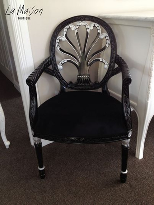 FEDERAL OVAL CHAIR   Black & Silver