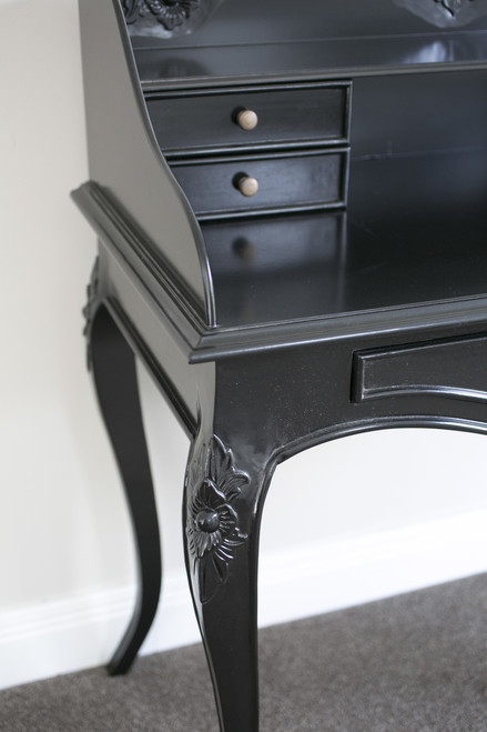 BELLE 5 DRAWER DESK | Black
