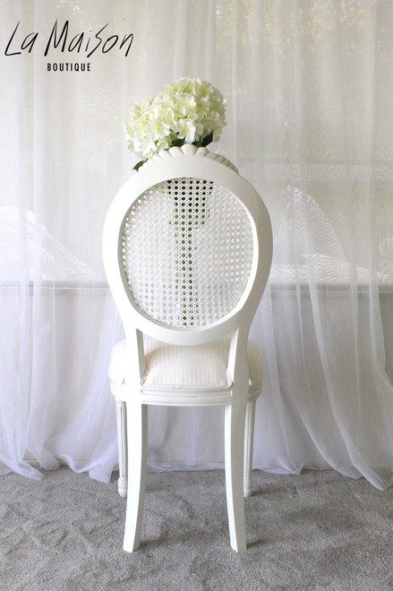 OVAL FRENCH RATTAN CHAIR