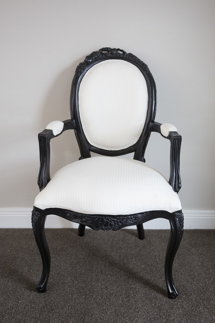 RIBBON ARMCHAIR | Black & White