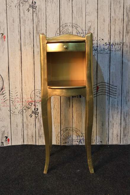 DAINTY BEDSIDE TABLE   Gold