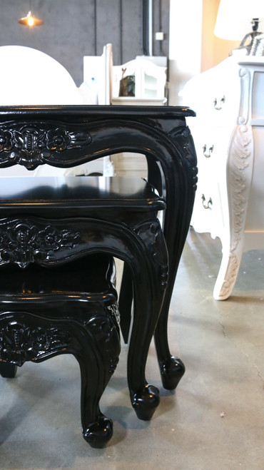 CONSTANCE SET OF THREE SIDE TABLES | Black