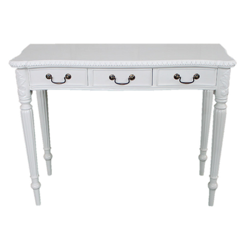 ROMAN 3 DRAWER HALL TABLE | White