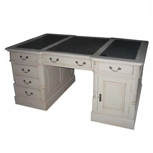 PARNELL DESK WITH LEATHER TOP