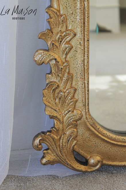 ACCORN HEART TOP MIRROR | Gold Textured
