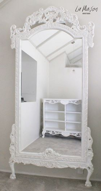 GRAND DRESSING MIRROR | Antique white