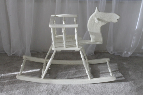ROCKING HORSE CHAIR   Crackle Gold