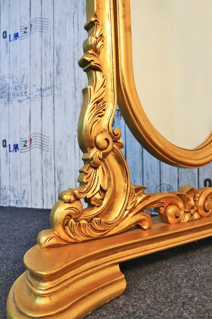 FREE STANDING GOLD MIRROR