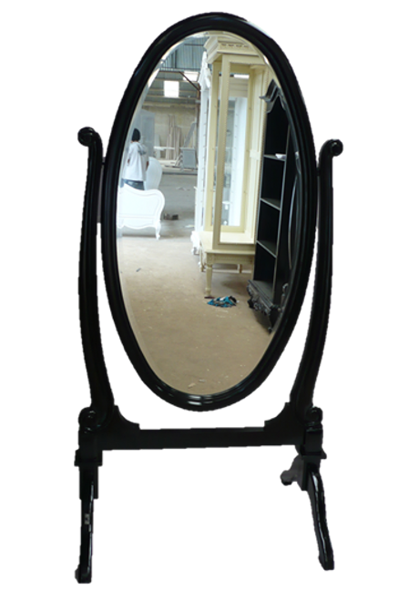 OVAL STANDING MIRROR | Black
