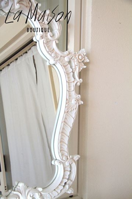 PROVENCAL MIRROR | Antique white