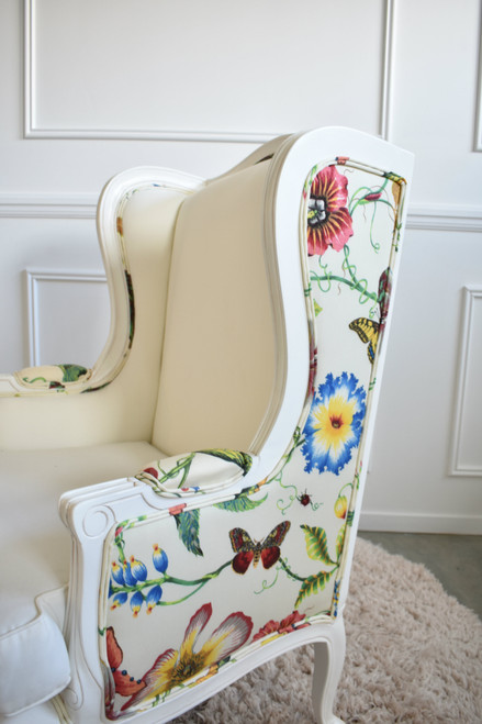 LOUIS WINGBACK CHAIR | Floral Imperialis Acrylic