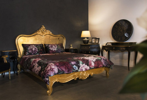 PROVENCAL CLASSIC BED LOW END | Gold Leaf