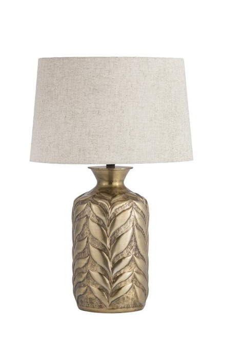 ANTIQUE BRASS LEAF TABLE LAMP