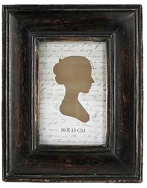 ANTIQUED BLACK/GOLD PHOTO FRAME SMALL