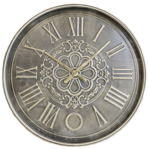 BRASS OLD TOWN METAL WALL CLOCK - TAIWAN MOVEMENT LARGE