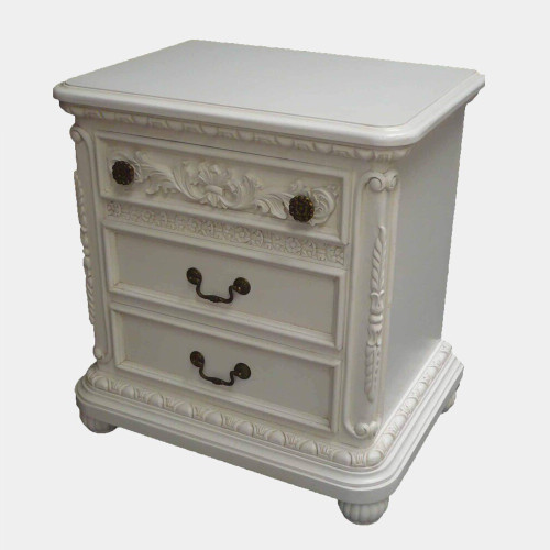 ELISE 3 DRAWER BEDSIDE TABLE