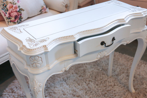 DARPHINE HALL TABLE  | White