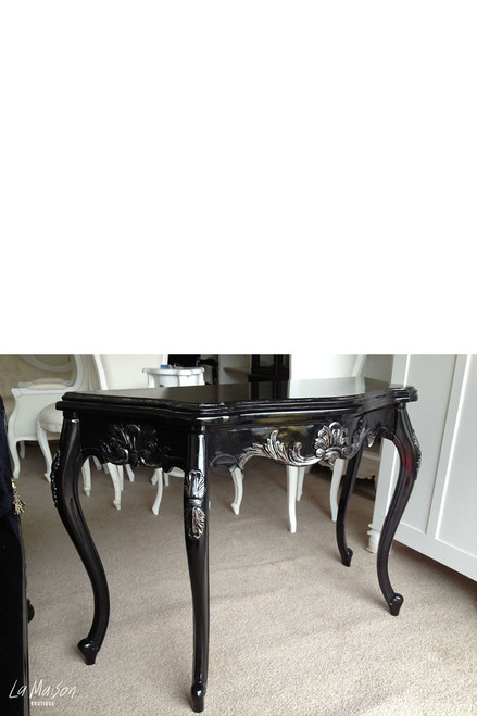 PRE ORDER : Serpentine Wall Table - Black & Silver