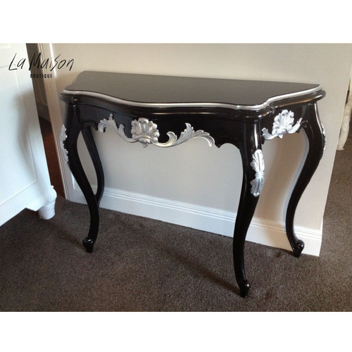 SERPENTINE WALL TABLE | Black & Silver