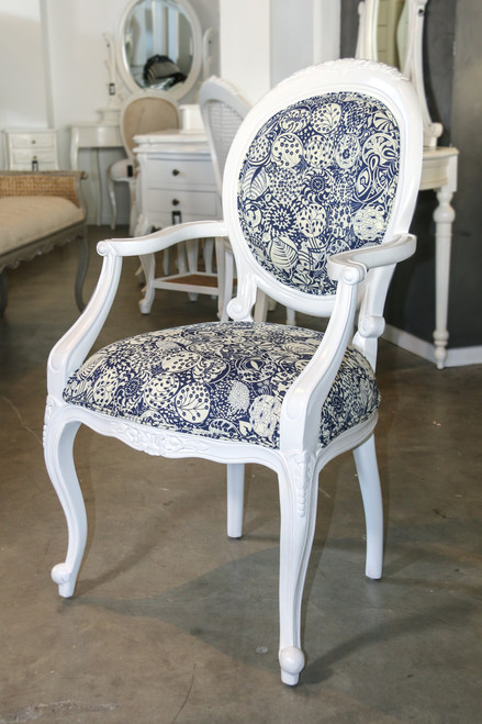 CARVED WILLOW ARMCHAIR | Linen Union