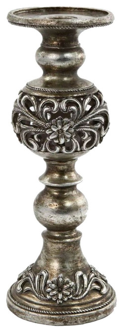 FLOWER ORNATE CANDLE HOLDER MED