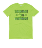 BLOCK-OUT Poaching!! Short Sleeve  t-shirt - Key Lime Green