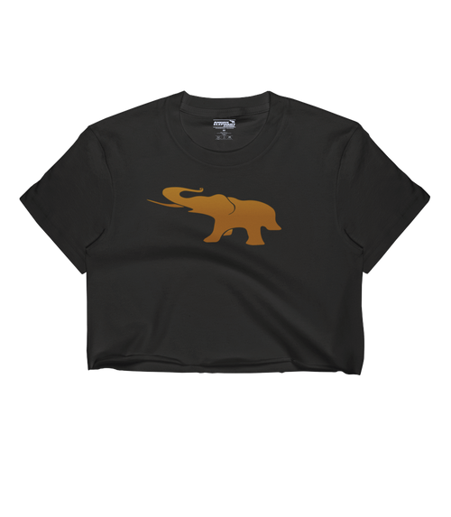 Ombre ELEPHANT -Women's Crop Top - Black
