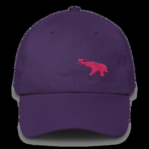 Pink Elephant Awareness Month- Dad Cap - Purple