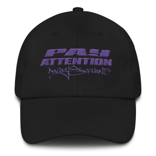 Purp Pay Attention Dad hat