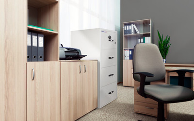 Chubb 2 hour Fire Filing Cabinet 4 drawer (328kg)