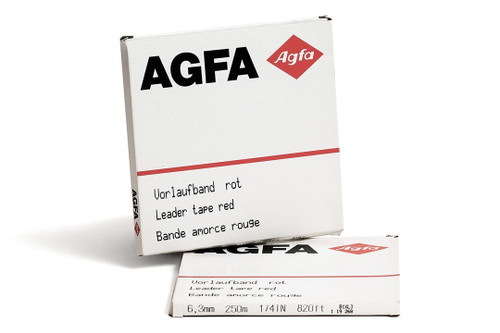 """AGFA Leader Tape 0,25""""; RED 820′ / 250m"""