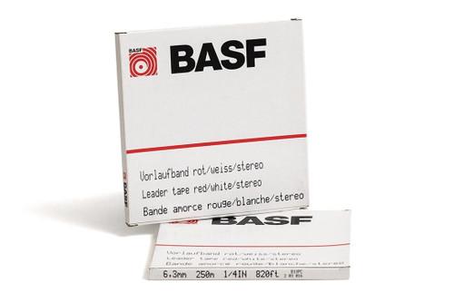 """BASF Leader Tape 0,25""""; WHITE/RED"""