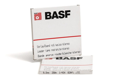 "BASF Leader Tape 0,25""; WHITE/RED"